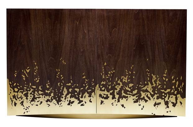 Alex Hull tulipwood and golden polished-brass Blaze Cabinet, £55,200