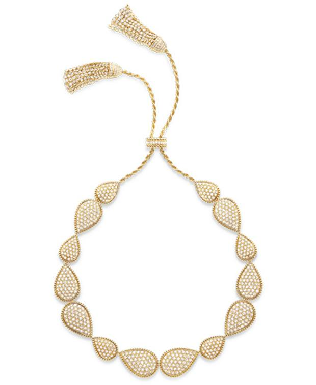 Boucheron diamond and yellow gold Pompon necklace from the Serpent Bohème collection, price on request