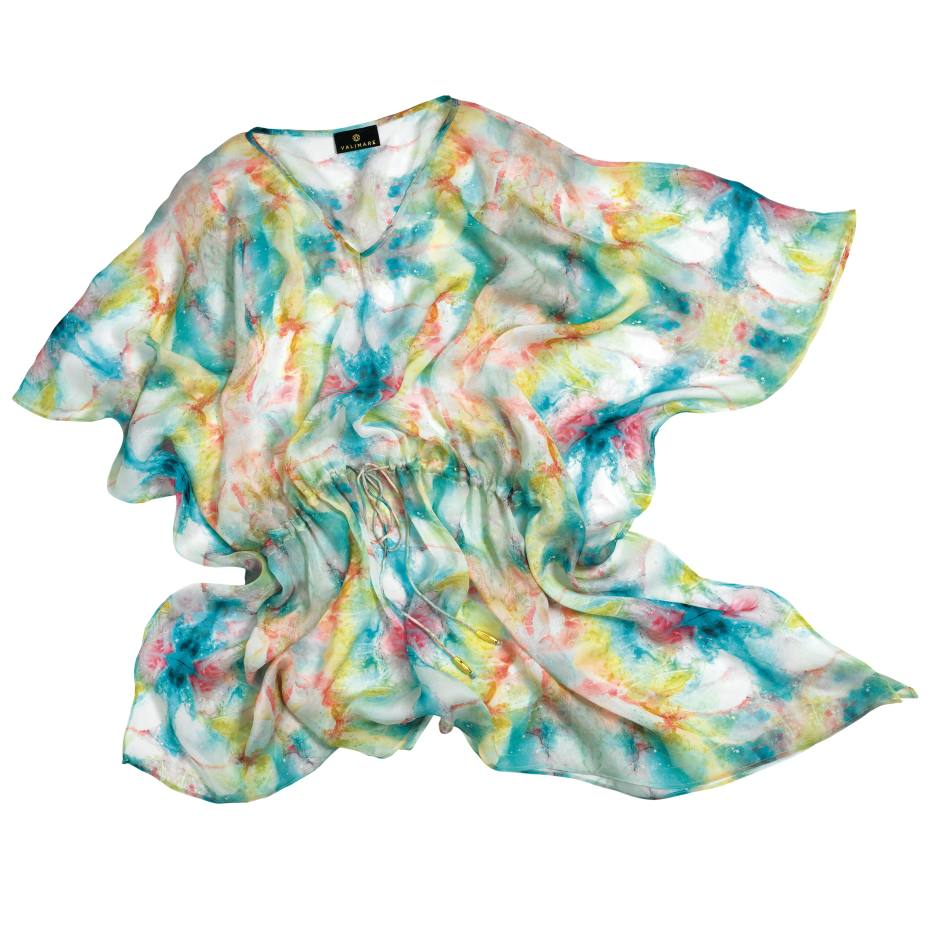 Valimare Palm Beach kaftan in silk, £249. Also in other colours