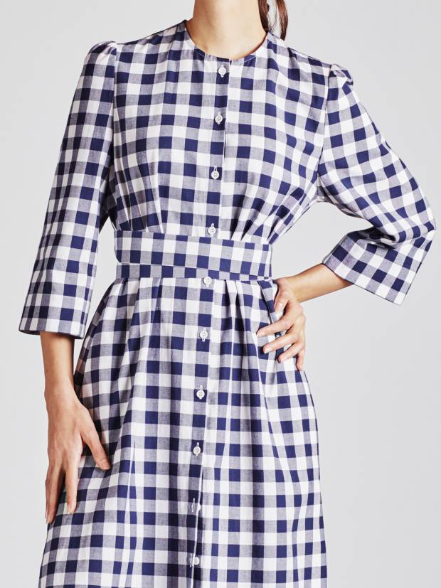 Cotton Raminta shirt dress in check, £260