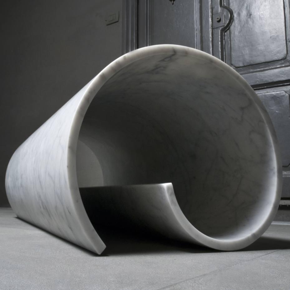 Girella marble bench by Ron Gilad for Salvatori, €24,000