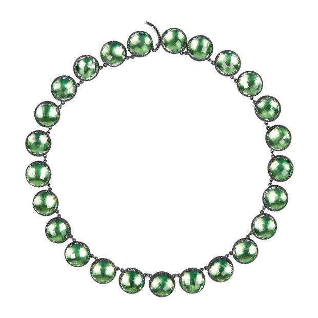 Larkspur & Hawk rhodium and topaz necklace, £4,700