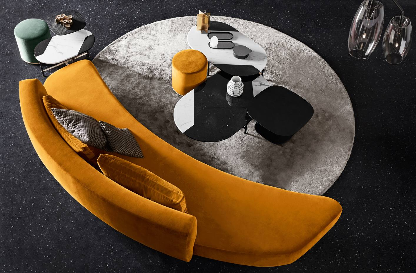 Massimo Castagna for Gallotti & Radice velvet and wood Audrey sofa, from £7,280