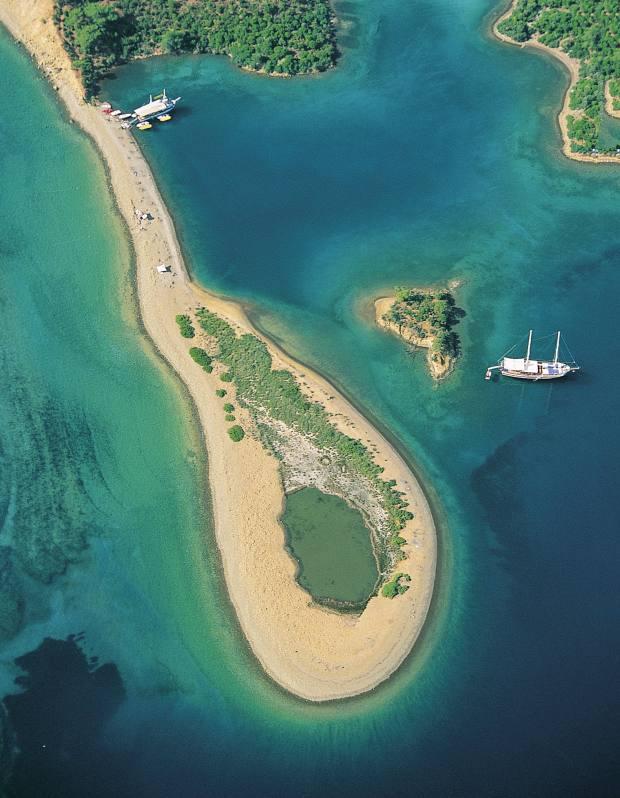 A bay off Göcek, Fethiye, Turkey.