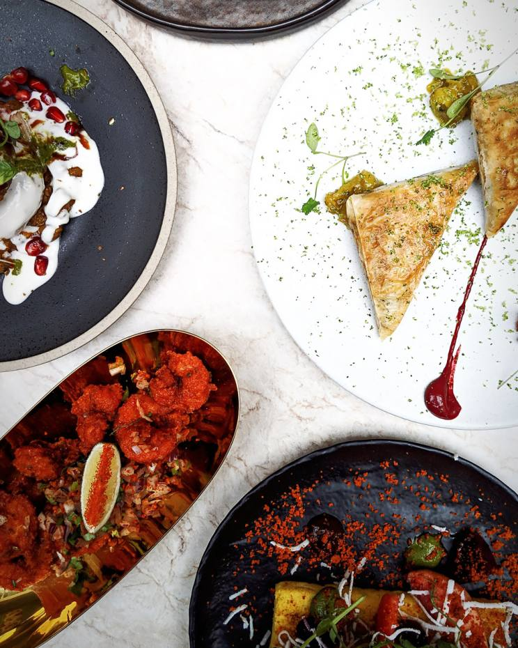 A selection of Rohit Ghai's small plates at Kutir, from £8