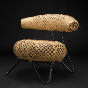 Ubunji Kidokoro's 1930s bamboo chair will be presented by WA Design, €22,000
