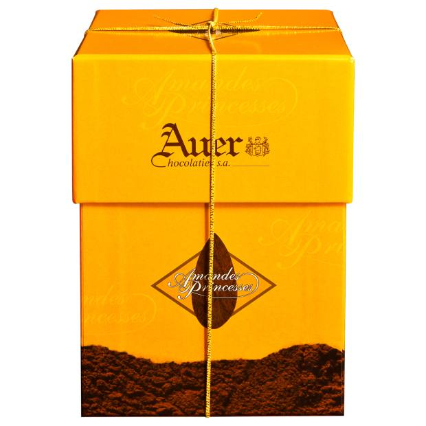 Auer Amandes Princesse chocolate almonds, about £25 for 250g