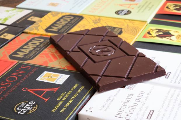 Customers can buy chocolate from all over the world