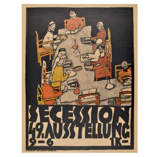 A 1918 Egon Schiele lithograph, price on request from Galerie St Etienne