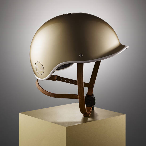 Thousand gold cycling helmet, about £80, from the Premium Collection, also available in matte black, navy and white