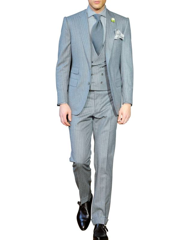 Cifonelli worsted flannel chalkstripe suit, £2,550