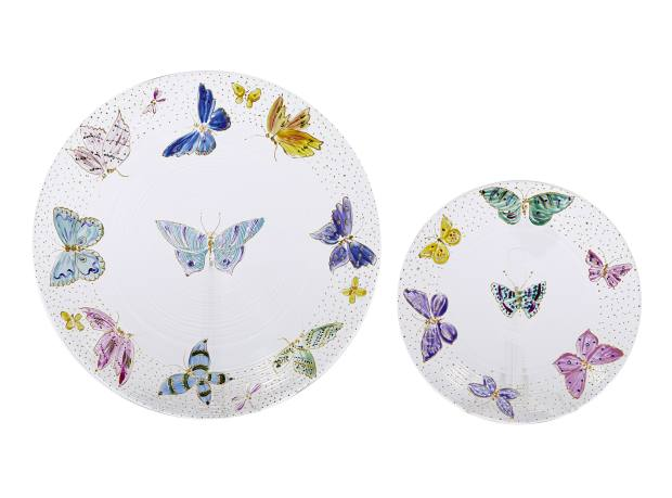 Hand-painted porcelain plates, price on request, from Dior Maison