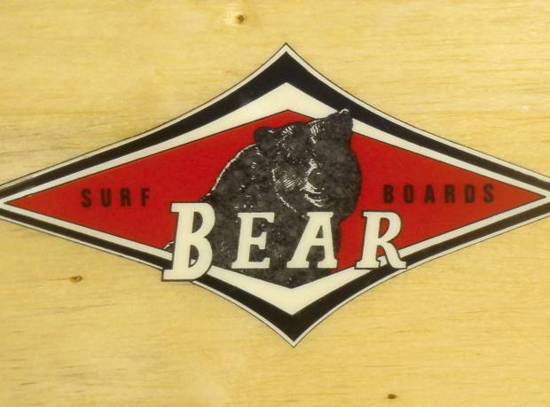 Balsawood Bear surfboard (detail shown) sold for $16,000.