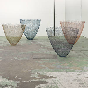 Cotton, linen and resin Ultima vessels by Gjertrud Hals, €16,000 each