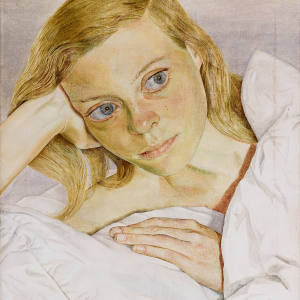 Girl In Bed, 1952, by Lucian Freud