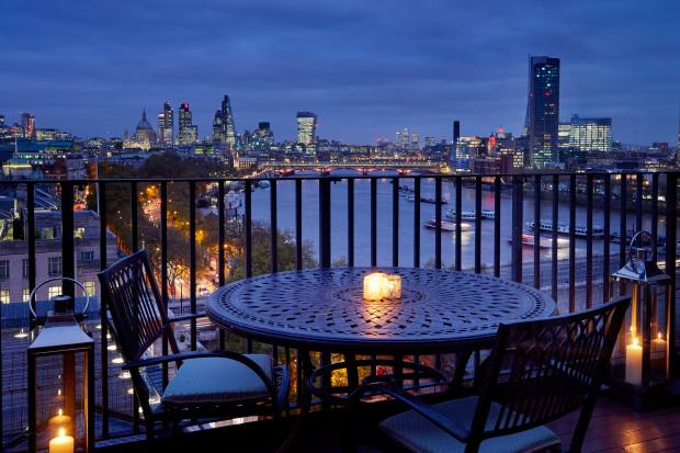 View of the Thames from a Junior Suite balcony