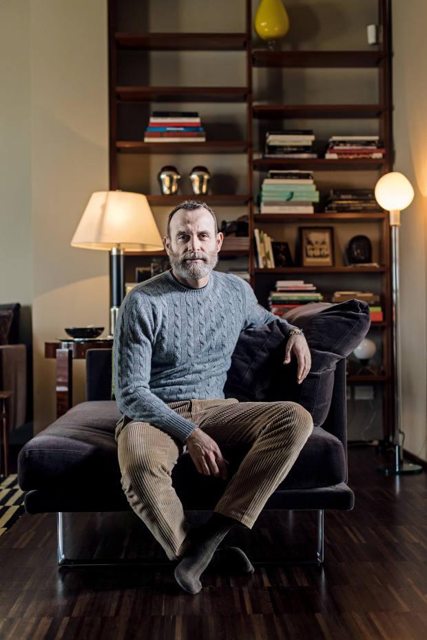 Vincenzo Castaldo at home in Milan