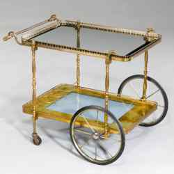 1950s gilt-bronze trolley, £2,900 from Windsor House Antiques