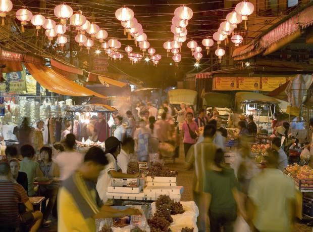 The night market in Bangkok's Chinatown
