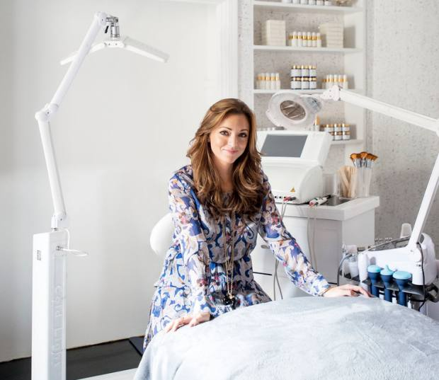 Facialist Georgia Louise in her salon
