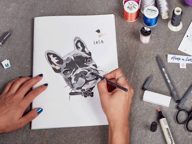 Hoop n Loop's designs are all hand-drawn and made in east London