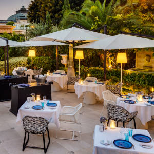 The alfresco Odyssey restaurant at Hôtel Metropole in Monte Carlo