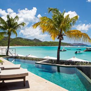 The infinity pool at the Diamond Waterlily suite, Eden Rock – St Barths