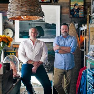 Mate Gallery owners Ron Brand and MattAlbiani