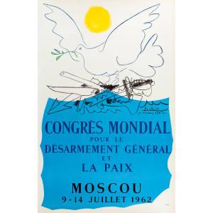 Picasso's lithographic Congrès Mondial pour la Paix poster (1962), £6,500