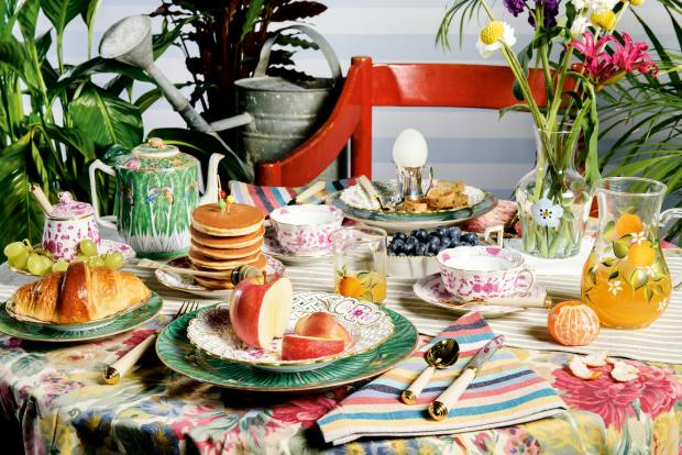Christie's tablescape, styled by Petra Palumbo