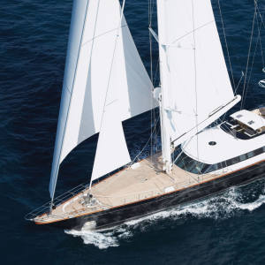Panthalassa is available to charter in the Med this summer with Camper & Nicholsons.