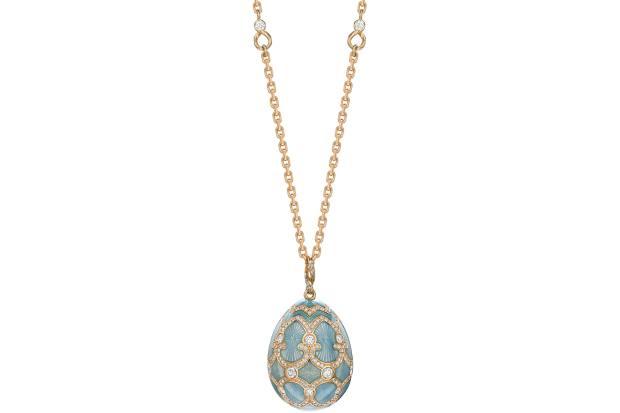 Fabergé Palais Tsarskoye Selo Turquoise Large Diamond Pendant