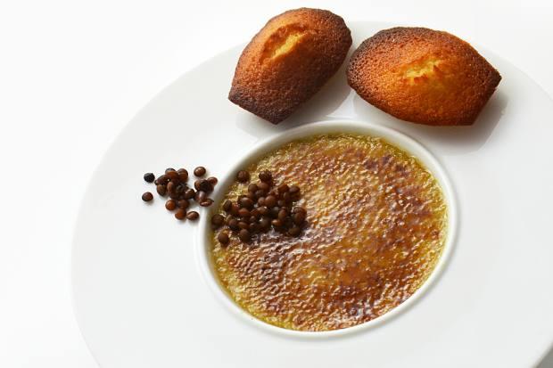 Desserts such as crème brûlée lentille are a highlight at Anicia Bistrot