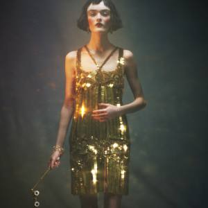 Sequined mousseline mini dress with silk detail, £10,020, by Roberto Cavalli. 18ct gold and sunset quartz Chilli earrings, £4,300, by Annoushka. Rose gold bracelet with pavé diamonds, £93,100, by Chopard. Vintage circa-1920s opera glasses in mother-of-pearl, £450, from The Eye Company.Annoushka, 41 Cadogan Gardens, London SW3 (020-7881 5828; www.annoushka.com). Chopard, 12 New Bond Street, London W1 (020-7409 3140; www.chopard.com) and stockists. The Eye Company, 159 Wardour Street, London W1 (020-7434 0988; www.eye-company.co.uk). Roberto Cavalli, 20-22 Sloane Street, London SW1 (020-7823 1879; www.robertocavalli.com).Reclaimed Victorian pine floorboards throughout, £45.60 per square metre, by Lassco.Lassco, London Road, Milton Common, Oxfordshire OX9 2JN (01844-277 185; www.lassco.co.uk) and branches.