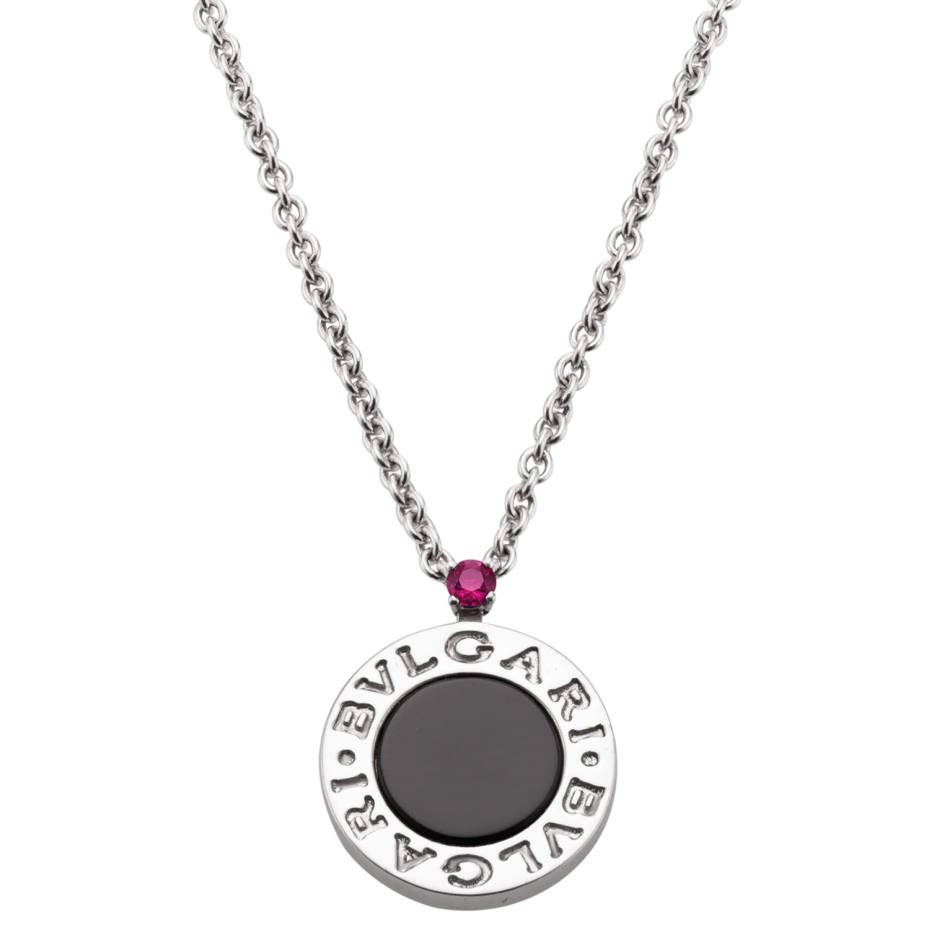 Bulgari silver and ruby necklace, £610; £60 from each sale goes to Save the Children