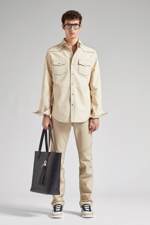 Tod's leather shirt, £2,800