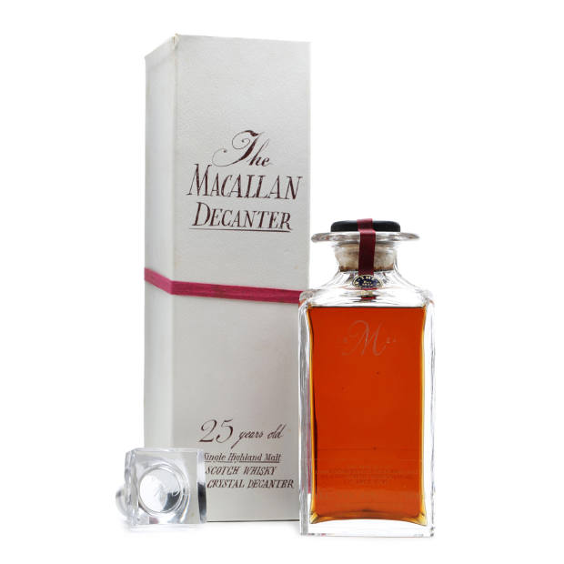 Macallan 1962 25yo crystal decanter, sold for £2,300