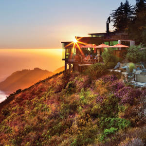 The Post Ranch Inn at Big Sur, California, offers expansive views of the ocean