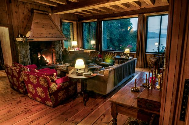 Santuario Mountain Lodge's cypress interiors are characteristic of the region