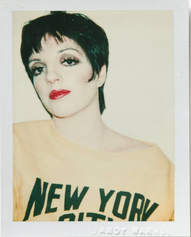 Andy Warhol image of Liza Minelli (1977), Polacolor Type 108, 10.8cm x 8.5cm