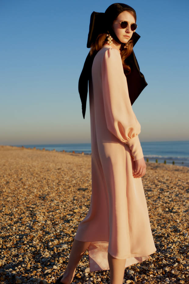 Mother of Pearl x BBC Earth asymmetric organic-silk Millie dress, £995