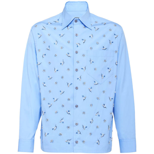 Prada embroidered poplin shirt, €1,700