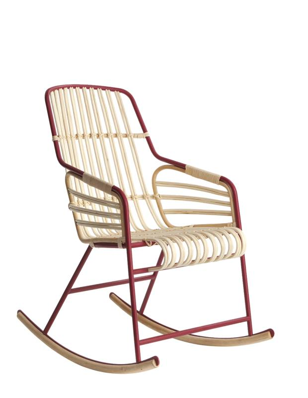 LucidiPevere for Casamania rattan and metal Raphia rocking chair, €1,325