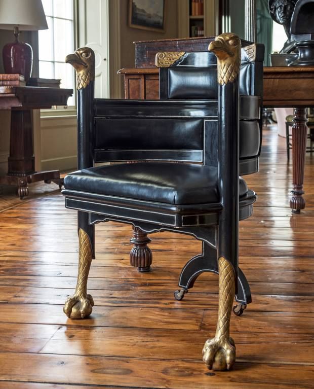 Rupert Bevan's eagle chair draws on an Edward William Godwin for William Wyatt design