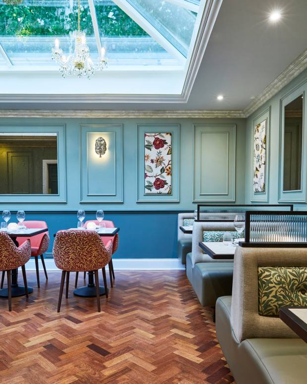 The elegant interior at Kutir, Gymkhana and Jamavar alumnus Rohit Ghai's new Chelsea restaurant