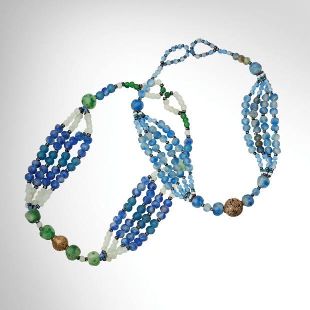 Glass necklaces, £75 each