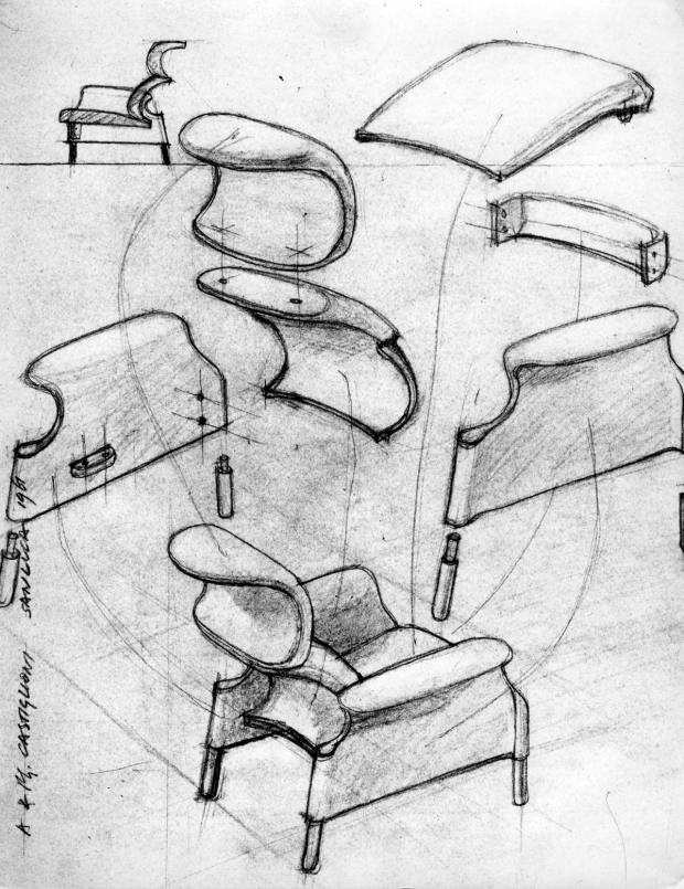 The original sketches of the iconic Sanluca chair