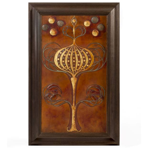 Oscar Graf will showcase a Charles Robert Ashbee panel from 1892, £30,000