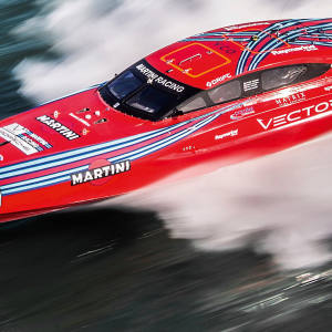 Vector Martini Racing's Rosso powerboat was victorious at last year's Cowes Classic