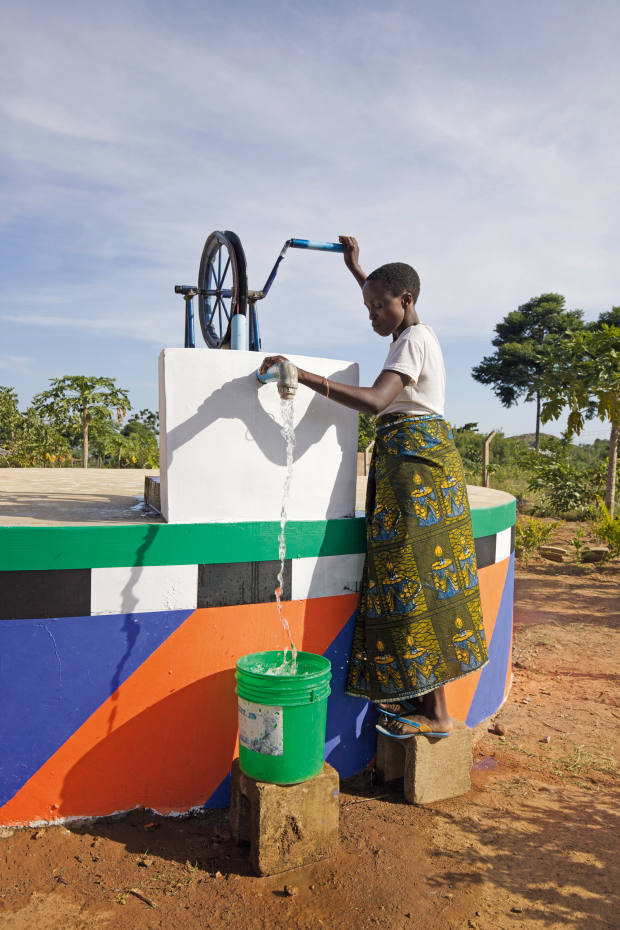 A water tank for Standing Voice, Tanzania